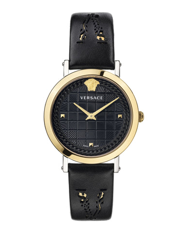 Medusa Chain Leather Watch
