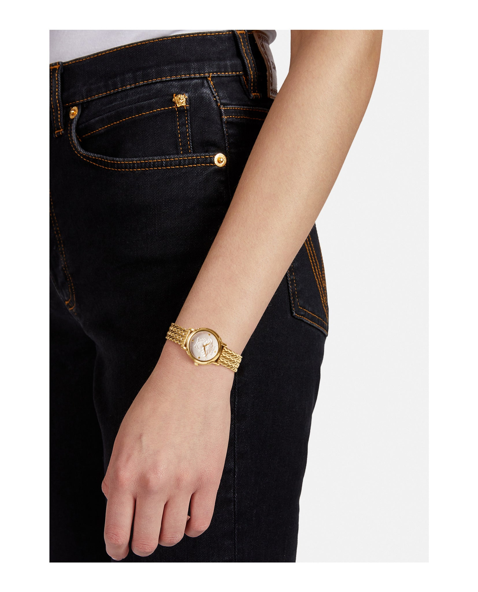 Safety Pin Bracelet Watch