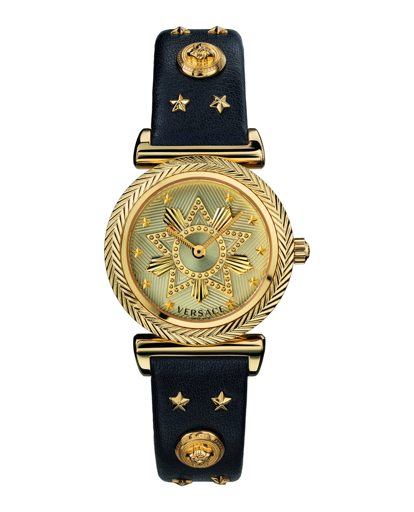 V-Motif Western Leather Watch