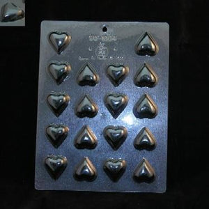Heart shape flat chocolate mould