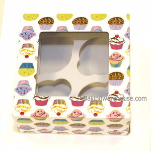 cupcake box with cup cake pattern