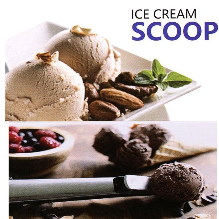 Ice Cream / Cookie dough Scoop with trigger Spoons