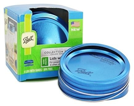 Ball replace lid with band Blue color