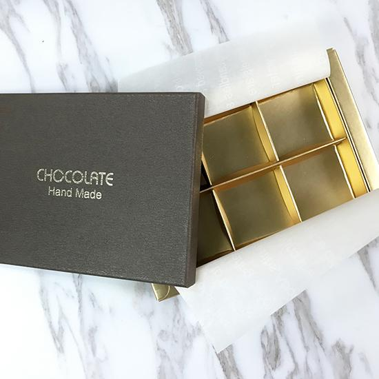 Chocolate Praline Box-Brown for 6 pieces
