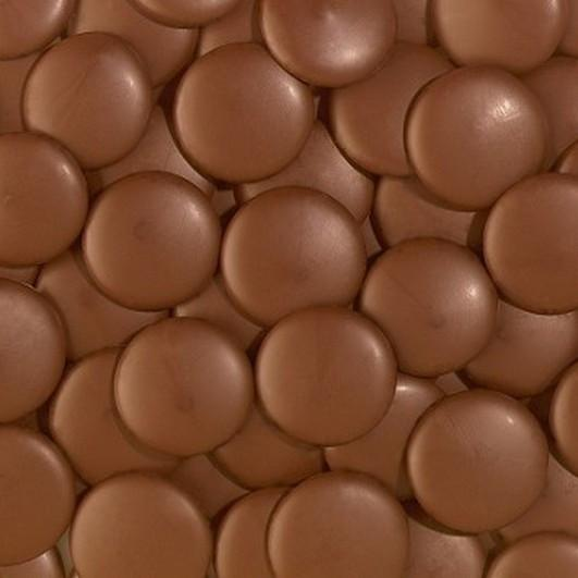 Milk chocolate button