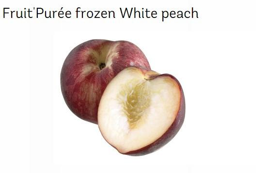 Frozen White Peach Puree