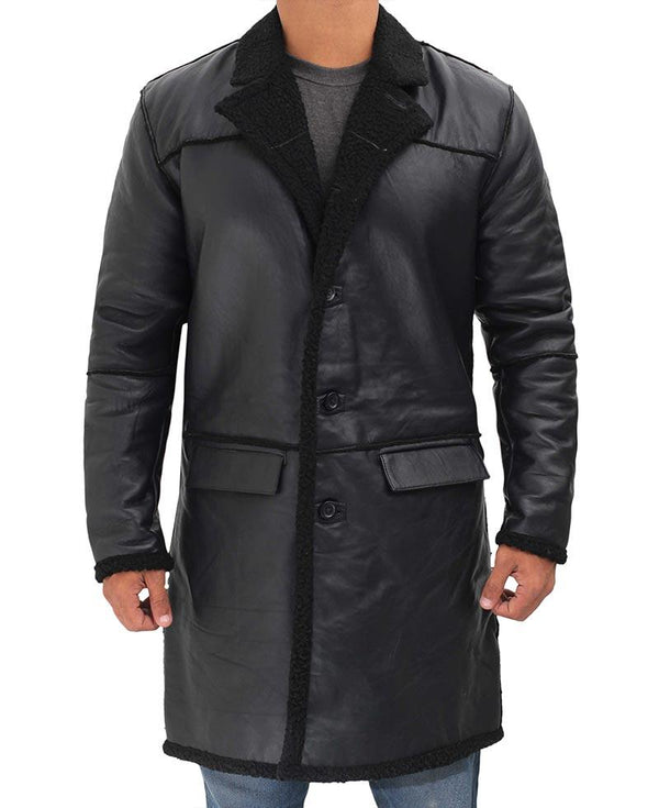 Black Quarter Length Coat