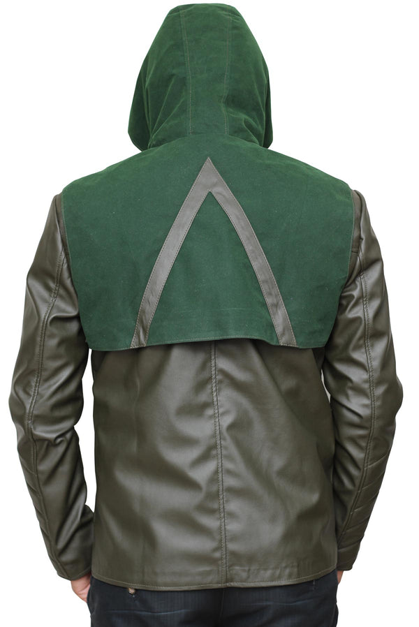 Stephen Amell Green Arrow Leather Jacket