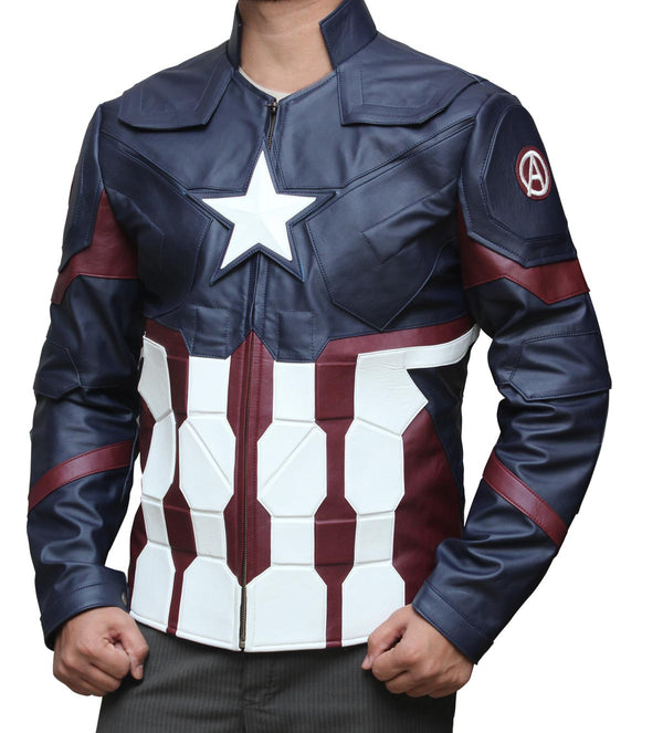 Avengers Endgame Civil Captain America Leather Jacket