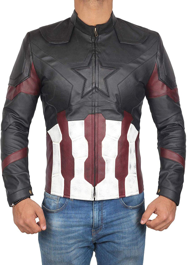 Black Waxed Captain America Infinity War Jacket