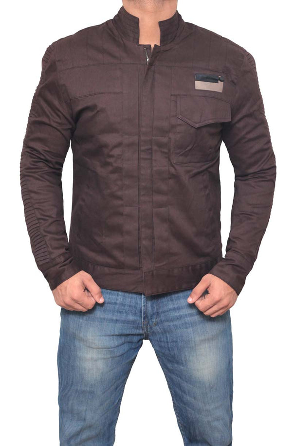 Star Wars Brown Cotton Captain Cassian Jacket