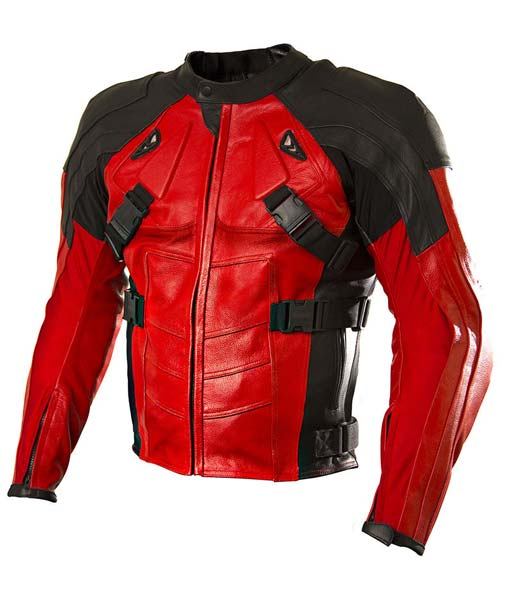 0ac33404 Deadpool Motorcycle Jacket in Armored Style | iendgame