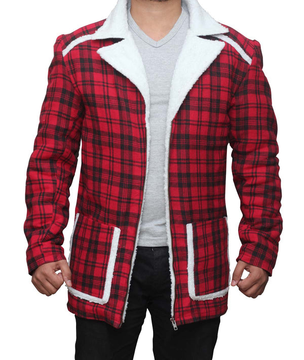 Deadpool Red Shearling Wade Wilson Jacket