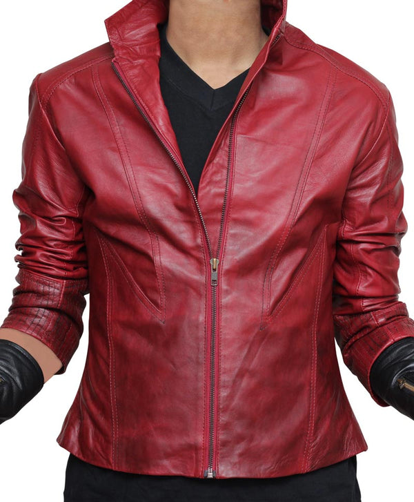 Avengers Age of Ultron Scarlet Witch Leather Jacket