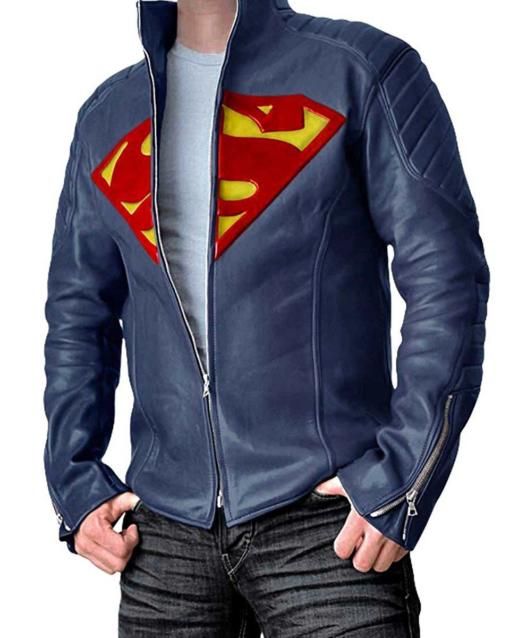 Superman Man Of Steel Leather Jacket