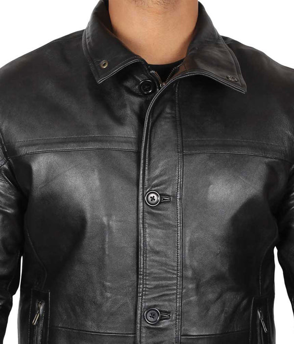 Black Leather Coat Men