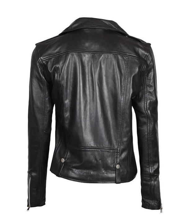 Biker Asymmetrical Leather Jacket