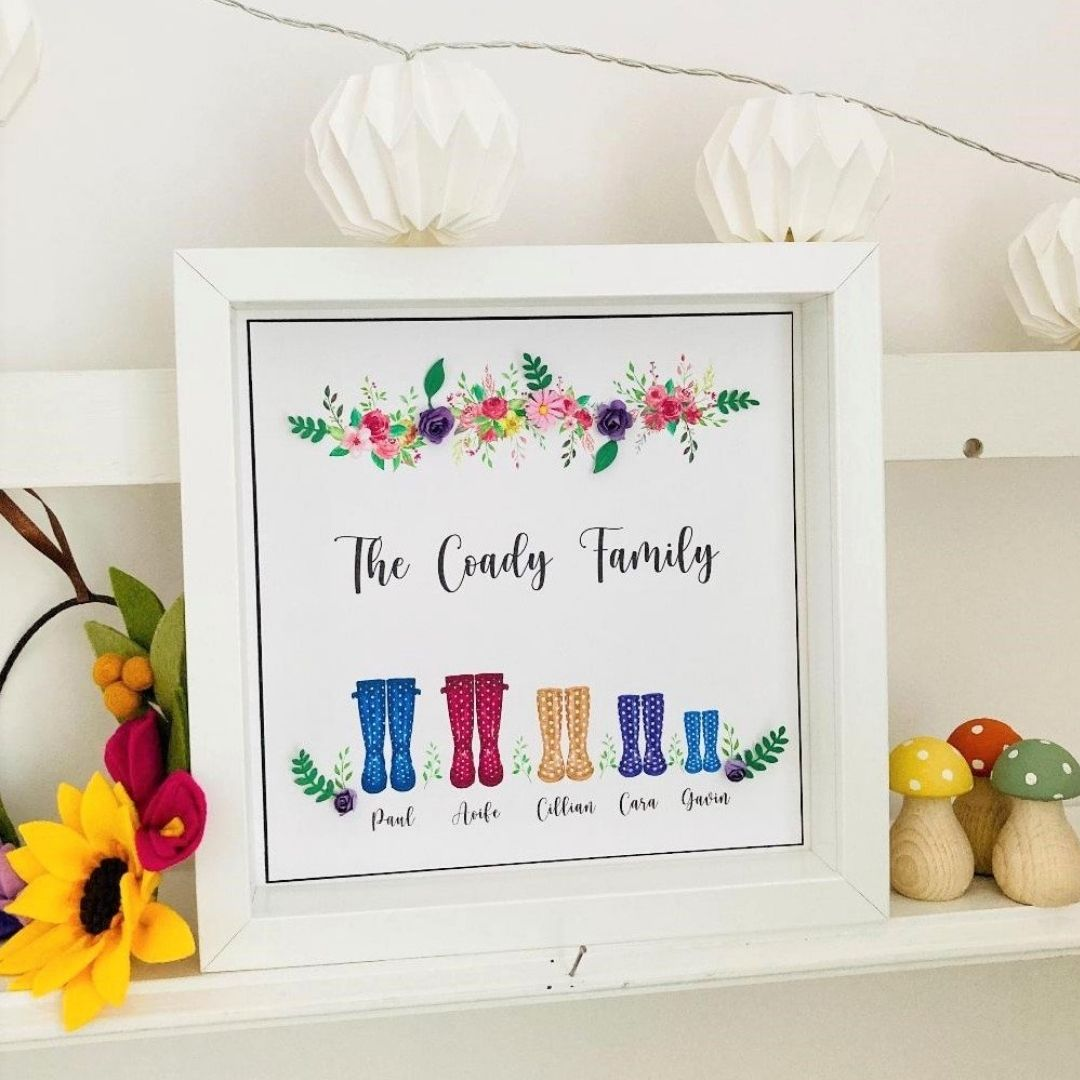 Family Wellies Frame