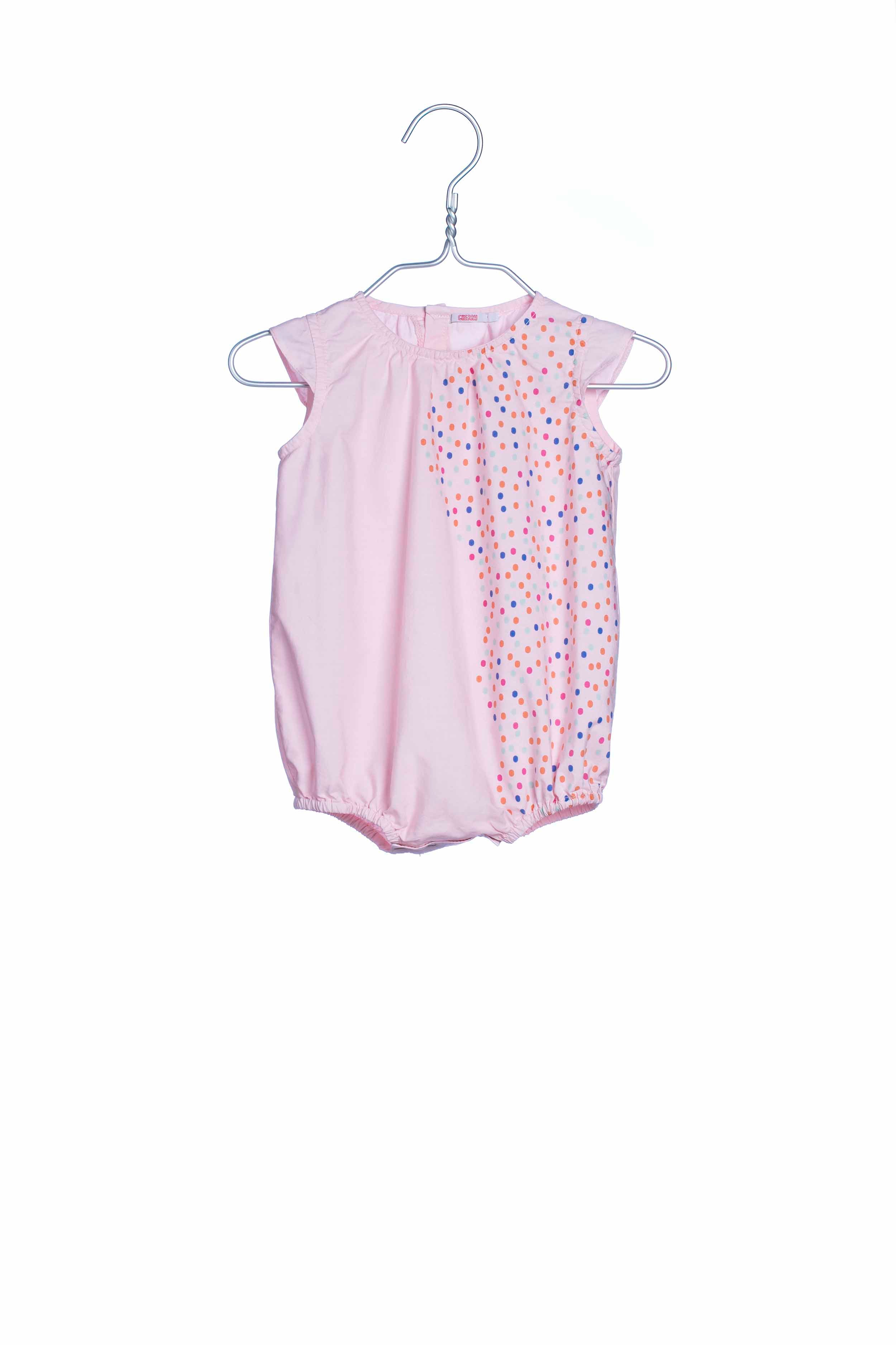 1748 Dots Overall Pink