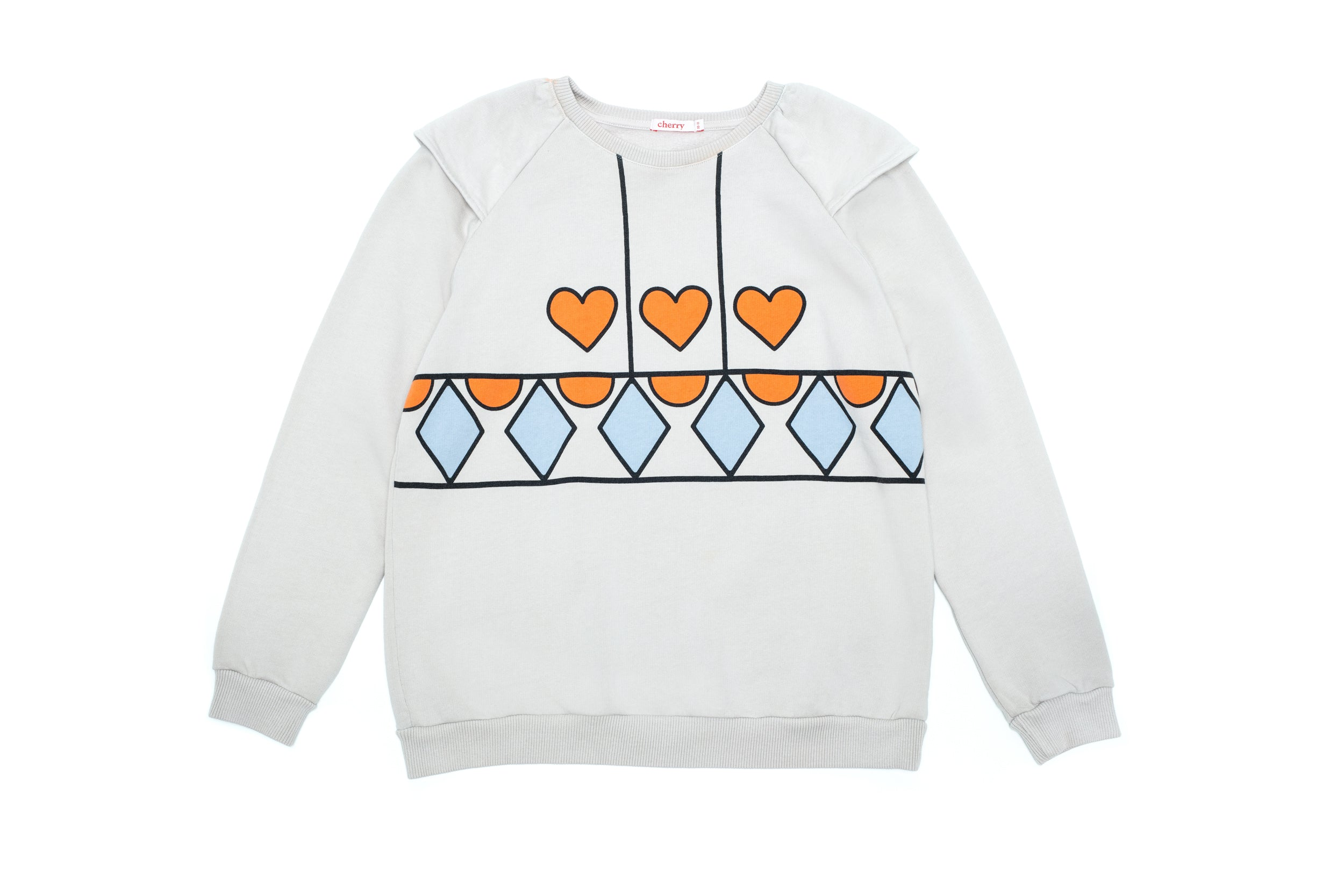Ruffle Heart Sweat