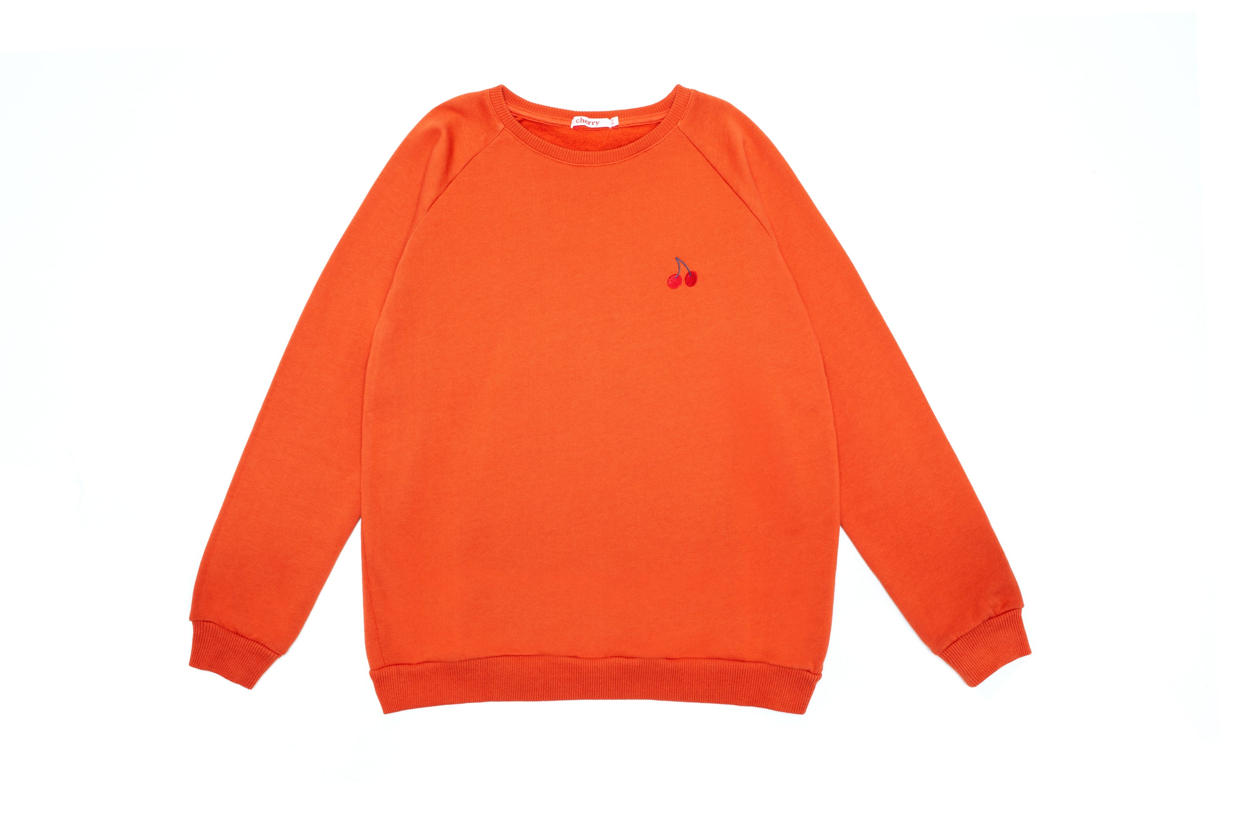 Basic Cherry Sweat Orange