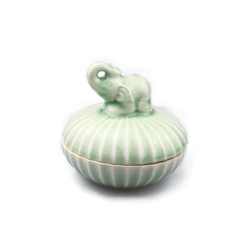 Celadon Elephant Pot