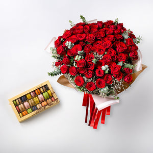 Valentine Red Luxury Roses Collection