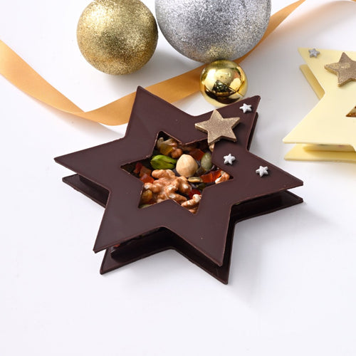 Dark Chocolate Fruit and Nut Star