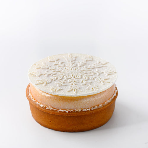 Snowflake Orange and Vanilla infused Tart