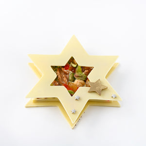 White Chocolate Fruit and Nut Star