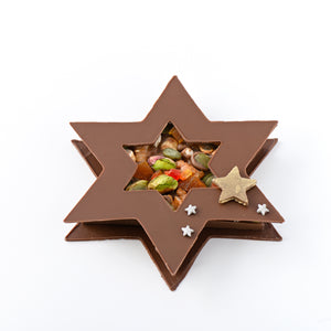 Milk Chocolate Fruit and Nut Star