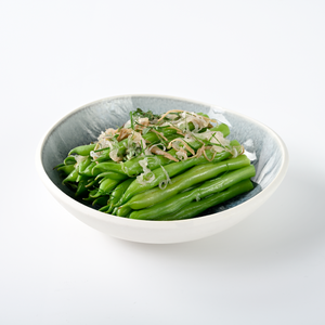 Green Beans, Extra Virgin Olive Oil, Ginger and Shallots