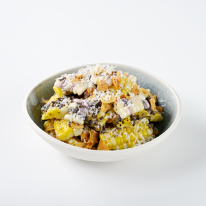 Steamed Sweetcorn, Truffle Butter, Garlic Chips, Parmesan