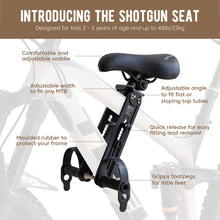 Load image into Gallery viewer, Shotgun - Front Mounted Child Bike Seat
