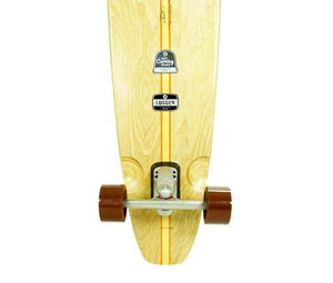 Logger Surfskate Longboard | Light Blue Leg Stripes | 5' | HST 200