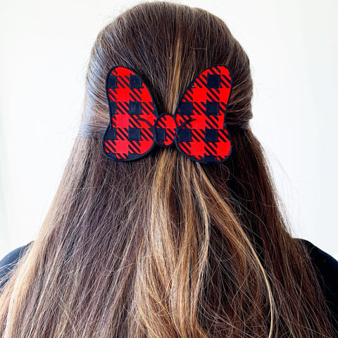 Buffalo Plaid Interchangeable Bow or Hair Clip