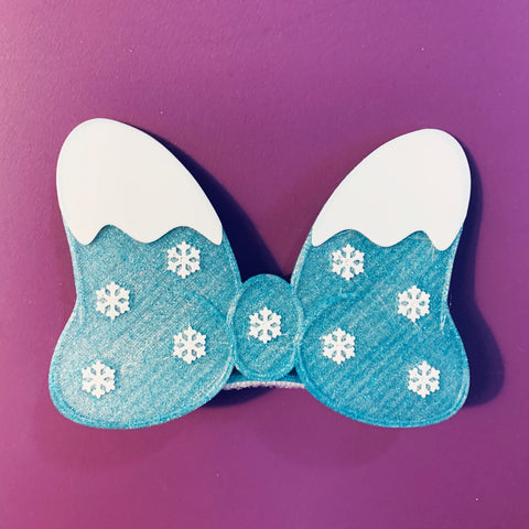 Snow Interchangeable Bow or Hair Clip