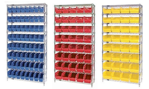 "6"" High Shelf Bin Wire Shelving Systems"