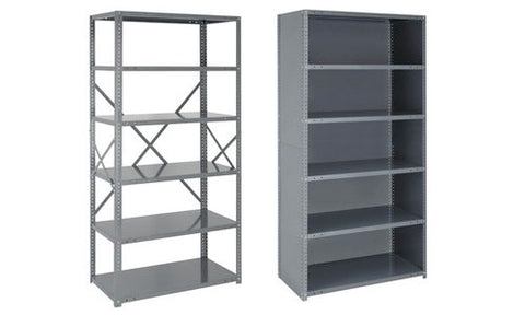 22 Gauge Open & Closed Steel Shelving