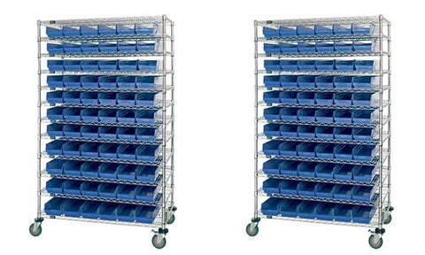 High Density Wire Shelving Bin Systems