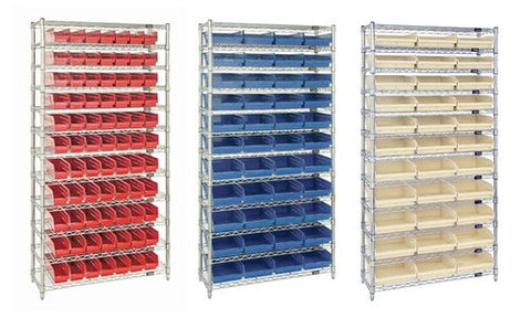 "4"" High Shelf Bin Wire Shelving Systems"