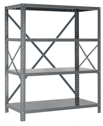Steel Open Shelving - 22 Gauge 4 Shelves 12 x 36 x 39 (V22G-39-1236-4)