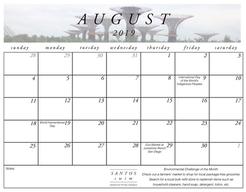 August Calendar Download