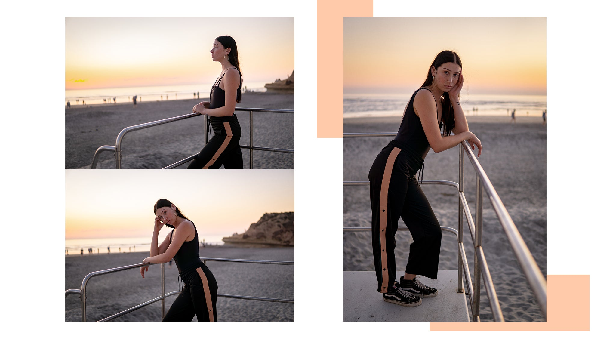 Del Mar Beach Sunset Photoshoot