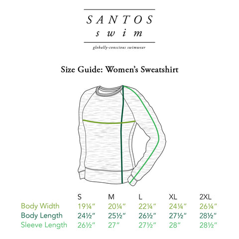 Santos Swim Women's Size Guide