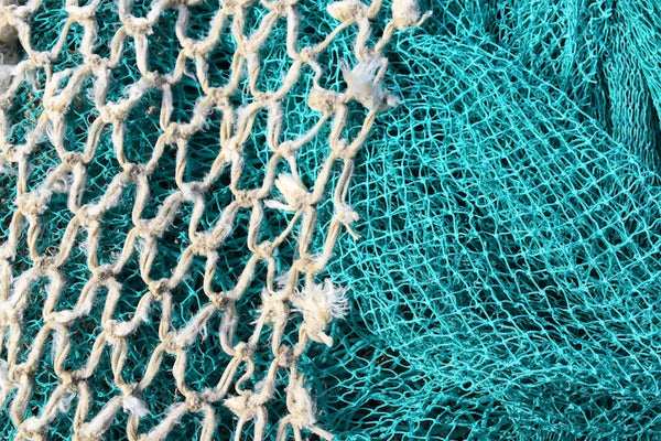 Blue and White Fishing Nets