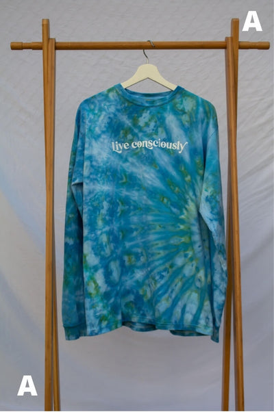 Large Live Consciously Tie-Dye Long Sleeve