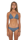 Canggu Reversible Triangle Top Grey Solid Front