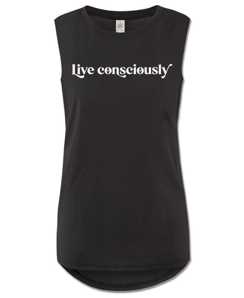 Black Organic Cotton Women's Muscle Tank