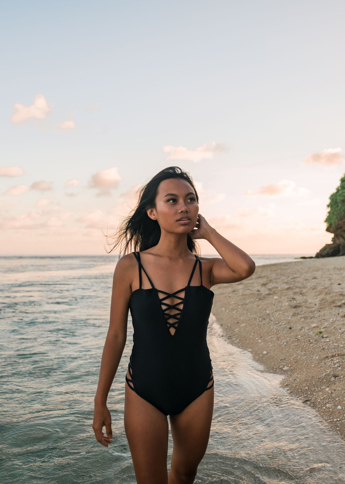 Seminyak One Piece Midnight Black Lifestyle